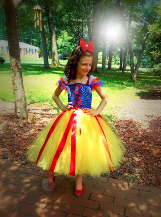 Rochita Carnaval Printesa Alba ca zapada TUTU petrecere Cadou Craciun