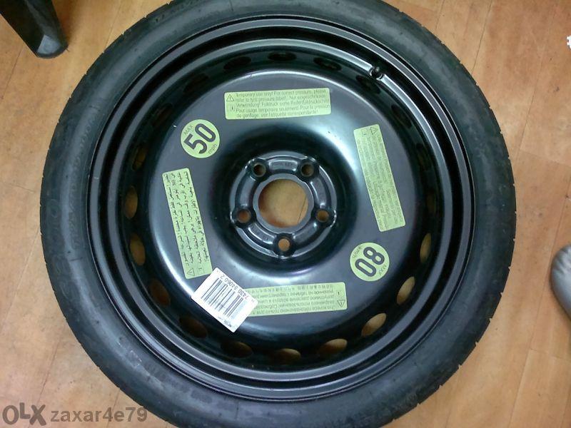 резервна гума патерица за ауди и мерцедес 15,16,17,18,19 и 20 цола
