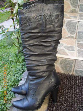 **REDUCERE!!Cizme negre, din piele naturală, superbe
