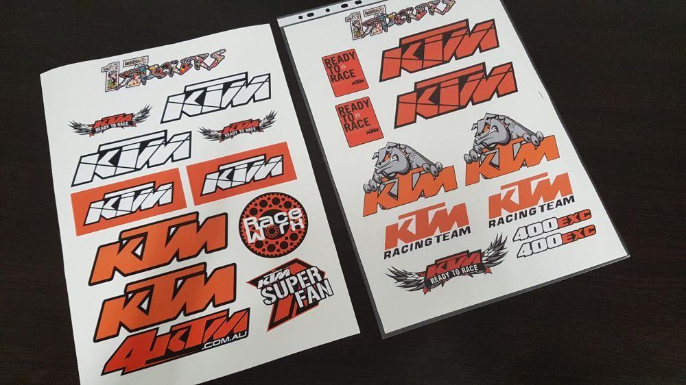 Stickere Ktm logo A3 sticker moto REDUCERE