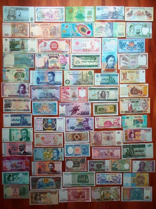 COLECŢIE 66 bancnote necirculate diferite - doar 300 lei!!!