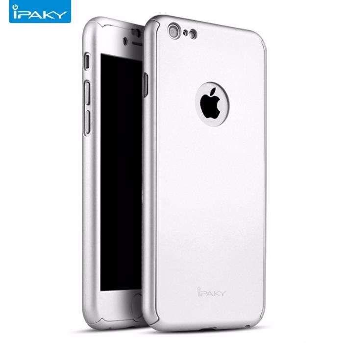 Husa 360º iPaky pentru iPhone 6PLUS/6SPLUScu folie de protectie-Silver