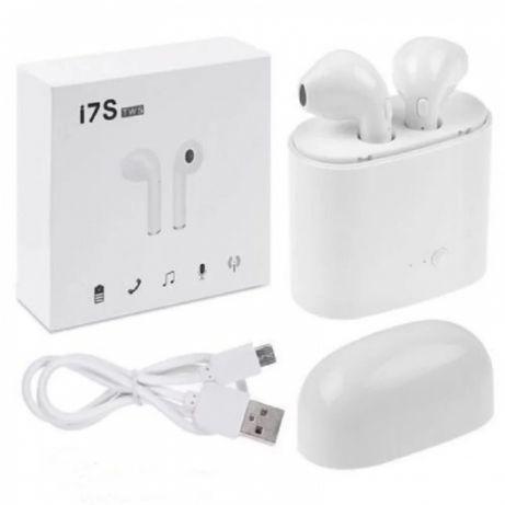i7S TWS слушалки Bluetooth безжични + зарядна станция power bank