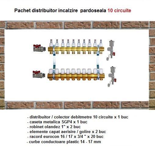 Pachet distribuitor alama pentru incalzire in pardoseala 10 circuit