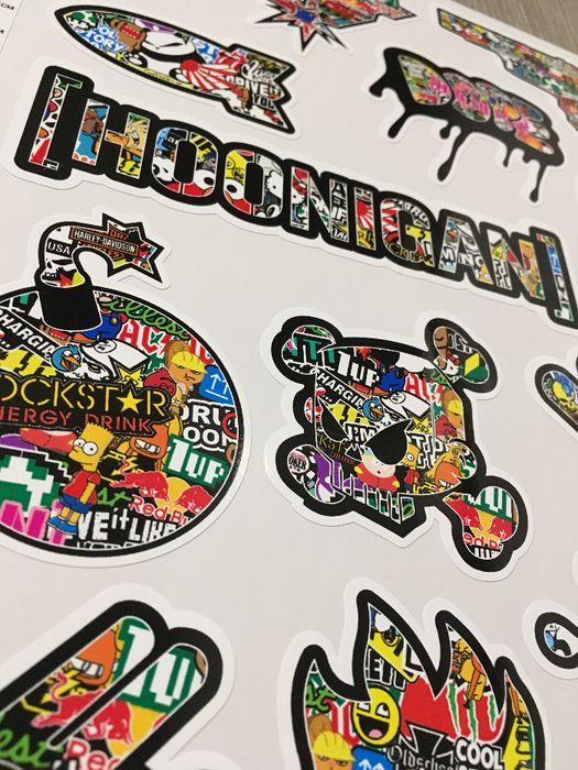 Стикери Sticker Бомб BOMB 13 бр. СУПЕР качествени PVC фолио стике гр. Стара Загора - image 1