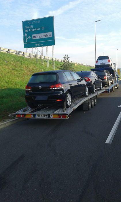 Transport autoturisme pe platforma/tractari auto-Italia-Romania.