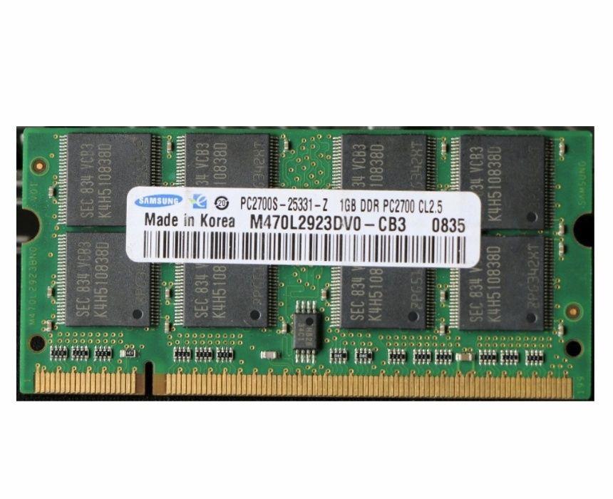 Memorii RAM 1GB DDR 333MHz PC2700