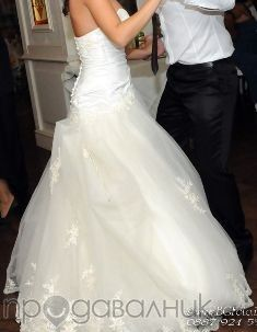 Булчинска рокля - испанска дантела