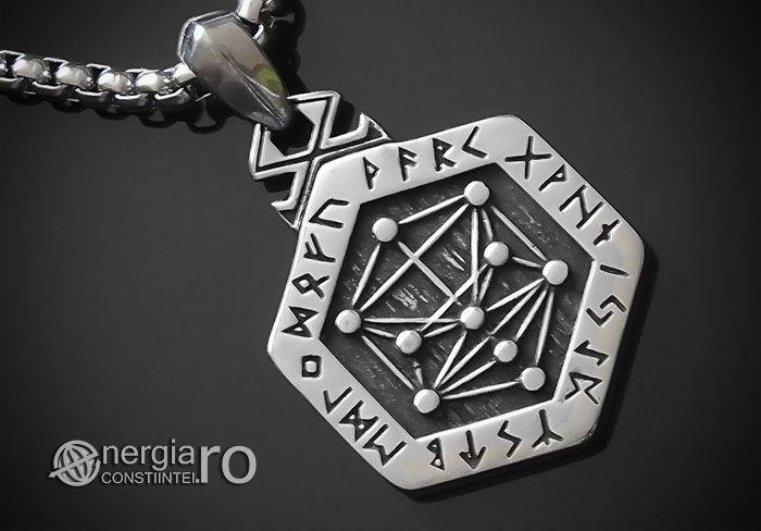 Amuleta Talisman Pandantiv Copacul Vietii Ebraic INOX - cod PND160