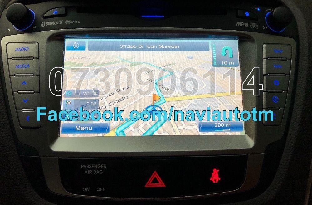 Harta GPS HYUNDAI ix35,Santa Fe,ix20,i30,i40,Veloster 2018 Romania Eur