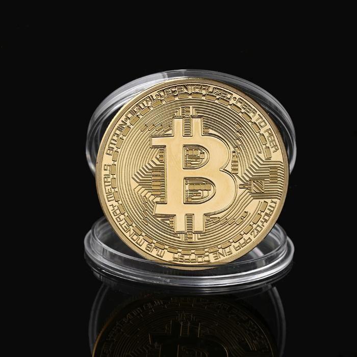 Bitcoin Биткойн колекционерска позлатена монета Промоция