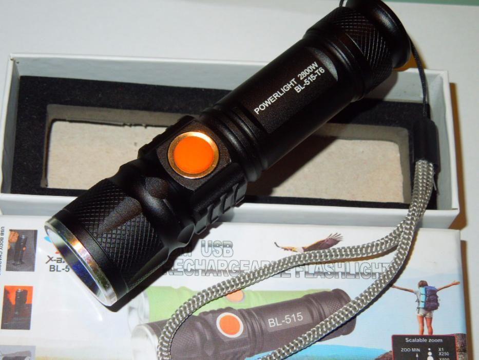 Lanterna Profesionala T6 Cu Incarcare Prin USB 2000lm / 2800W