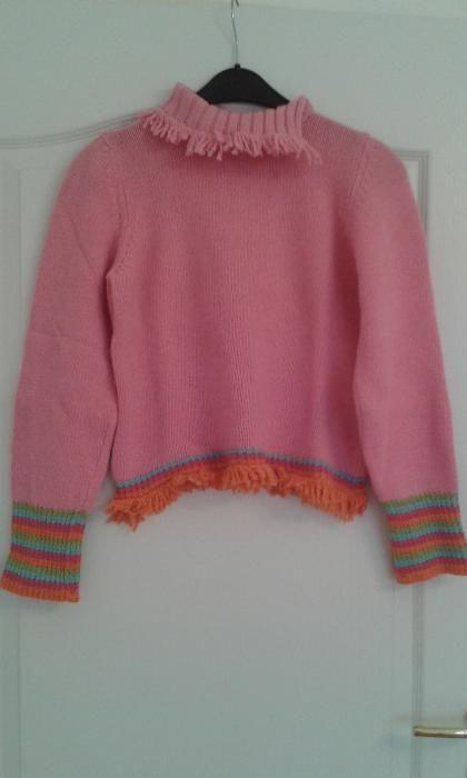 Pulover roz cu guler Iana 160 cm 13-14 ani XL