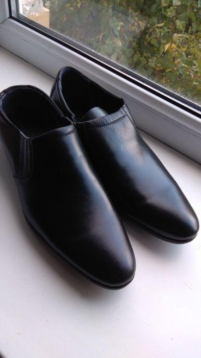 Мужские кожаные туфли (военные)