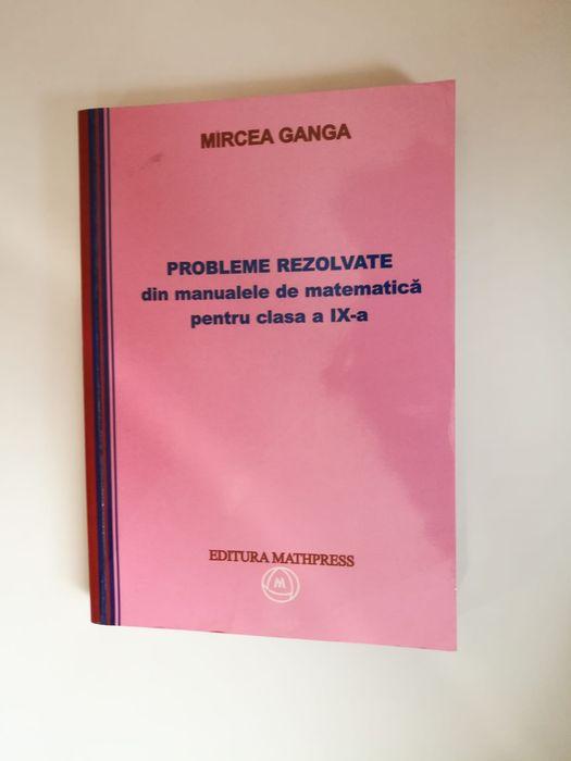 Vând auxiliar cu probleme rezolvate din manualele de matematica a IX-a