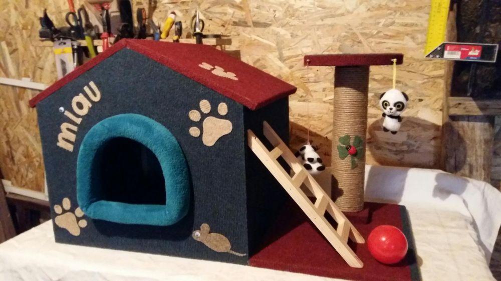 Casuta pentru pisicute.Sisal cu jucarii Pitesti - imagine 3