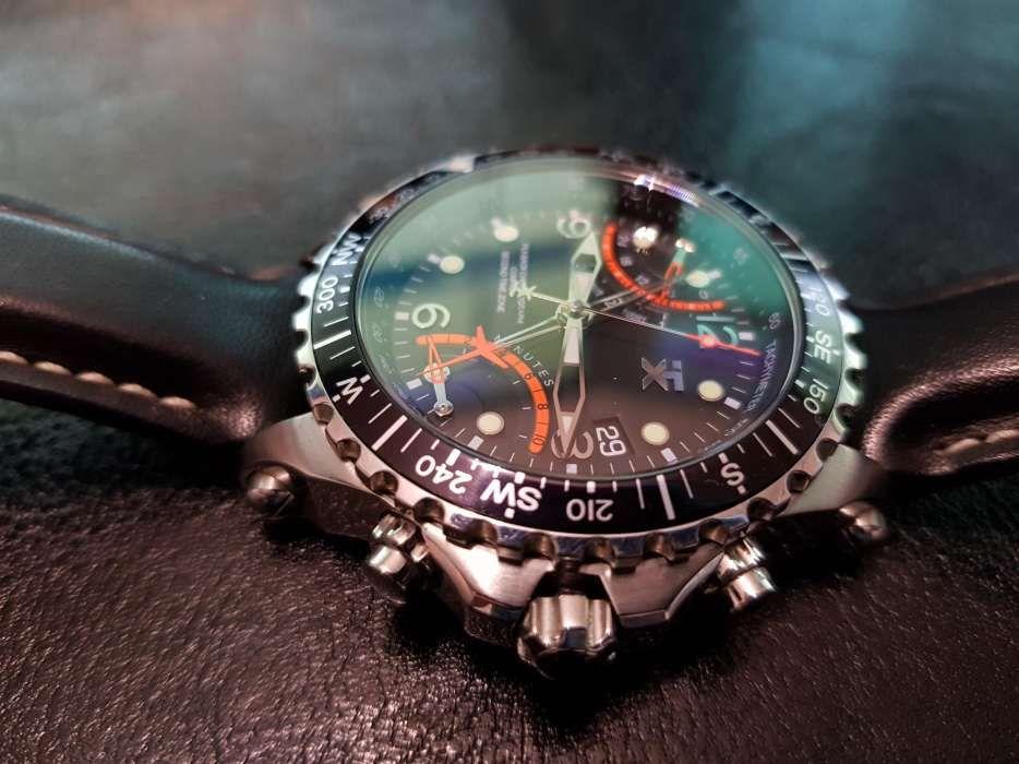 Ceas TIMEX TX TX730 Fly Back Chronograph Negru Purtat