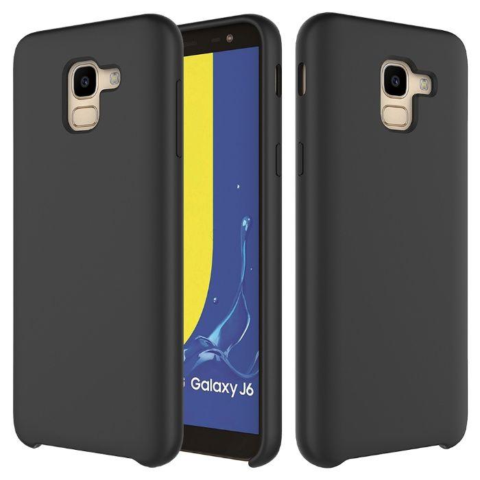 Samsung J4 Plus J6 Plus - Husa Din Silicon Interior Catifea Neagra