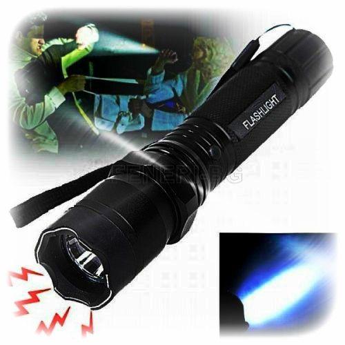 Полицейски LED фенер с електрошок 50000w-12лв