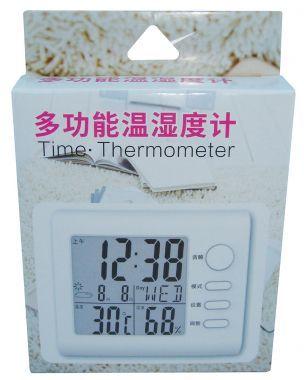 Termometru, Ceas Si Higrometru, Cu Afisaj LCD