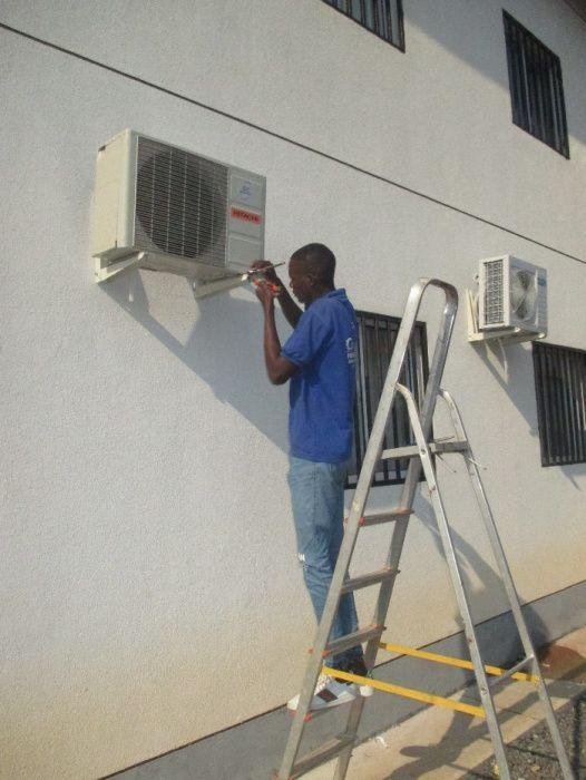 instalação completa de ar condicionado.