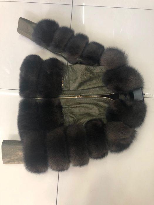 Geaca Louis Vuitton dama / piele naturală ,blăniță naturală vulpe