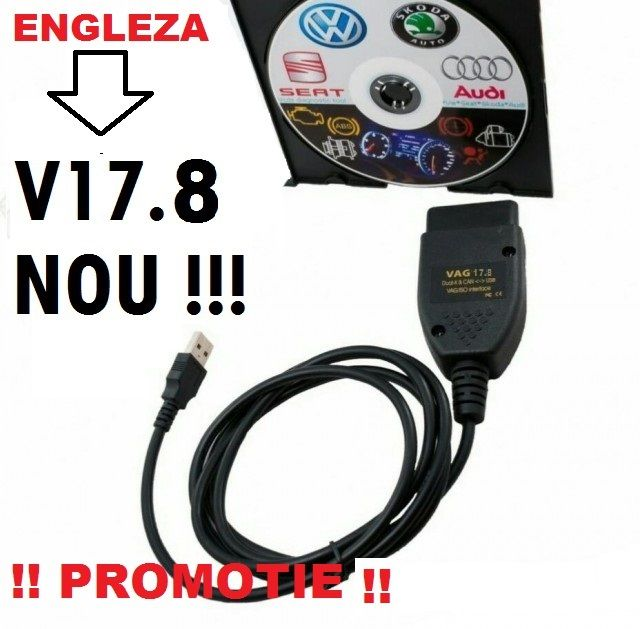 Interfata diagnoza VAG COM 17.8.8 VAGCOM 2017 VCDS VW AUDI SKODA SEA