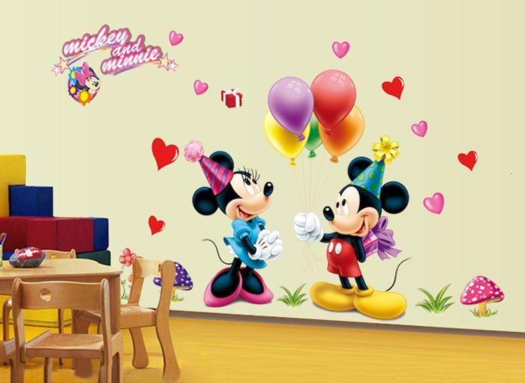 Autocolant Mickey and Minnie Mouse Sticker Perete 2016,DECOR CAMERA CO