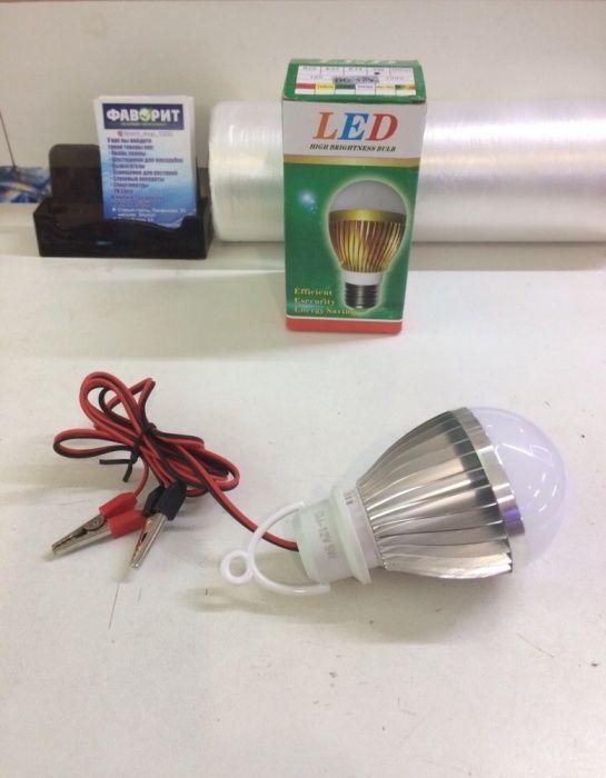 Продам светодиодную лампу 12v с крокодилами