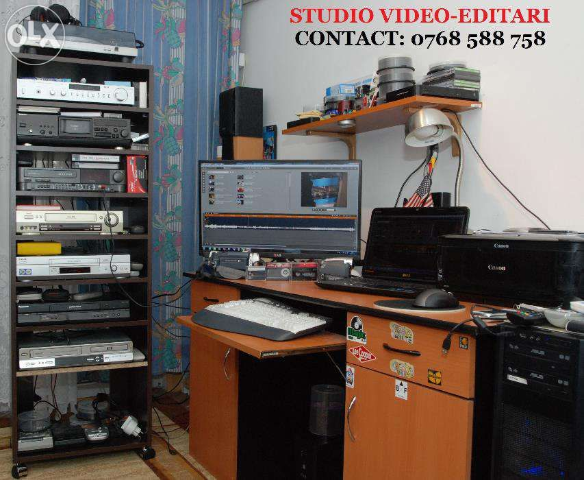 Transfer casete video pe dvd / 8 lei ora