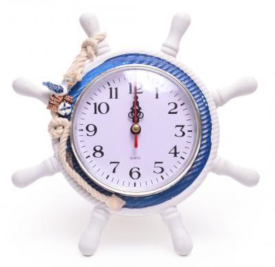 Часовници за стена с морски мотиви-Котва, пояс,руля/морски часовни