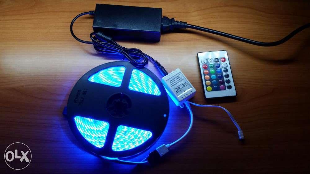 Banda LED 5m RGB 5050 impermeabil Waterproof IP65 60LED/m 300 LED