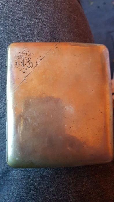 Tabachera din argint vechi antic vintage