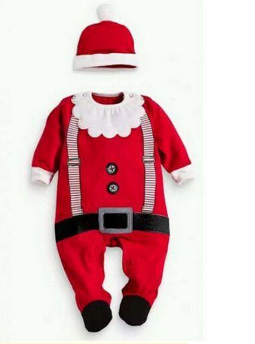 Коледен бебешки костюм 0-3 месеца