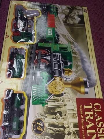 Trenulet electric vintage,trenulet cu sine vintage la cutie,T.GRATUIT