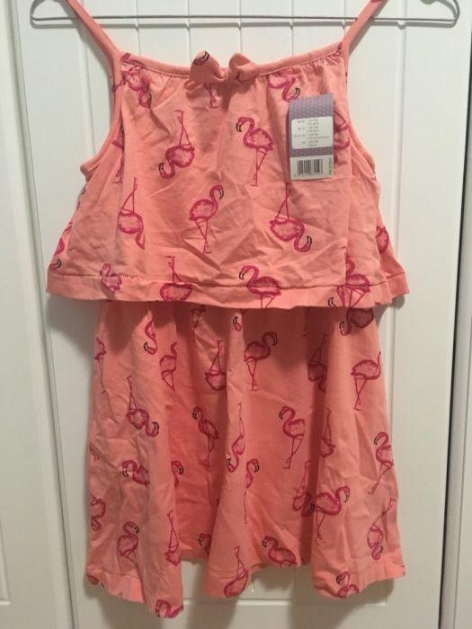 Детска рокля фламинго
