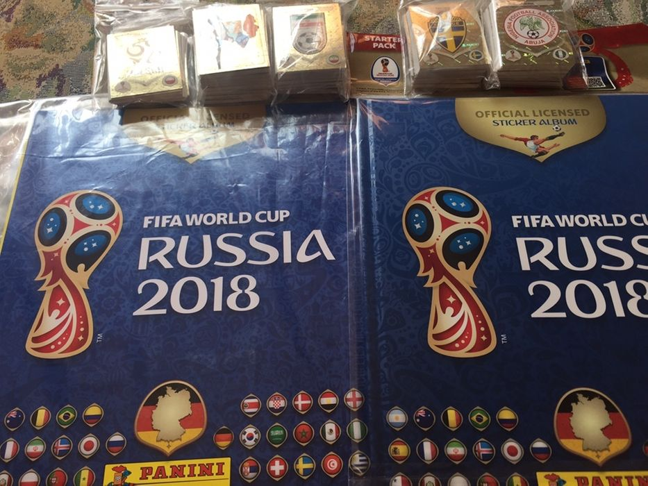 Panini Rusia 2018 set complet nelipit 691 stickere album hard Mcdonald