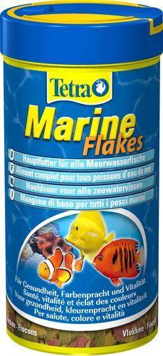 Корм для морских рыб TetraMarin Flakes хлопья 250мл