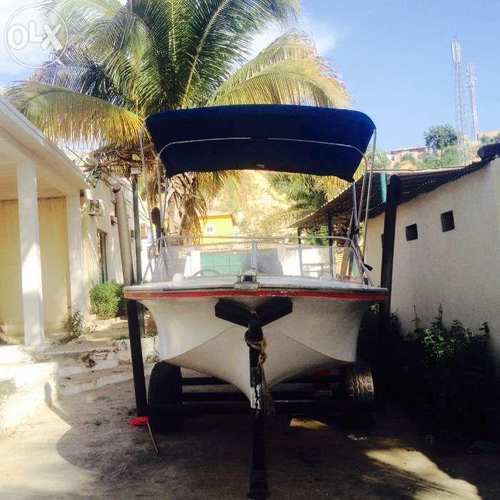 Barco flamingo com motor 115