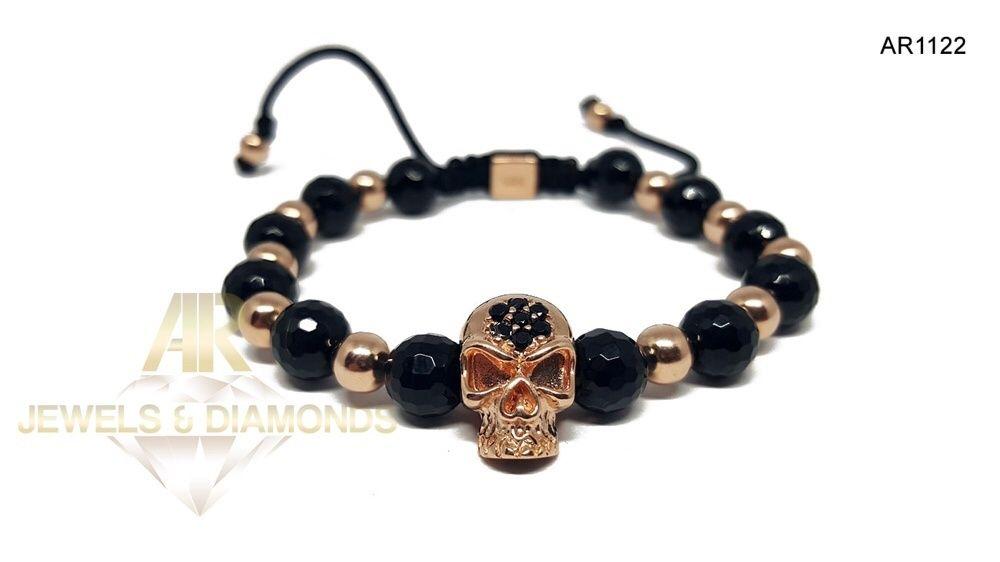 Bratara Aur 14 K Skull Collection ARJEWELS (AR1122)
