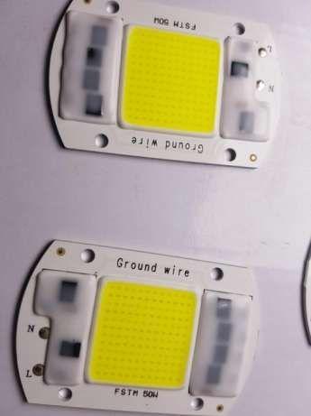 Led cob smart ic 220v cip led 50w alb rece