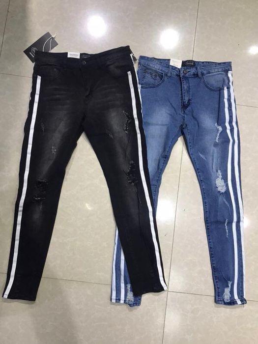 Calças jeans com Barras