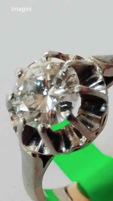 Inel aur, diamant 1crt, culoare G, claritate SI1, (cod AMV 001)