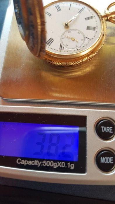Ceas de buzunar aur ancre 10 rubis geneve
