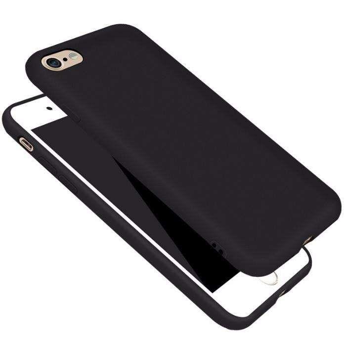 Husa Subtire Din Silicon Black, Protectie Camera - Iphone 7 7+ 8 8+