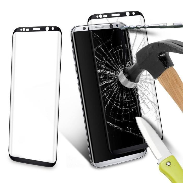 Стъклен протектор за Samsung Galaxy S8 G950 Full Черен,Син,Прозрачен,З