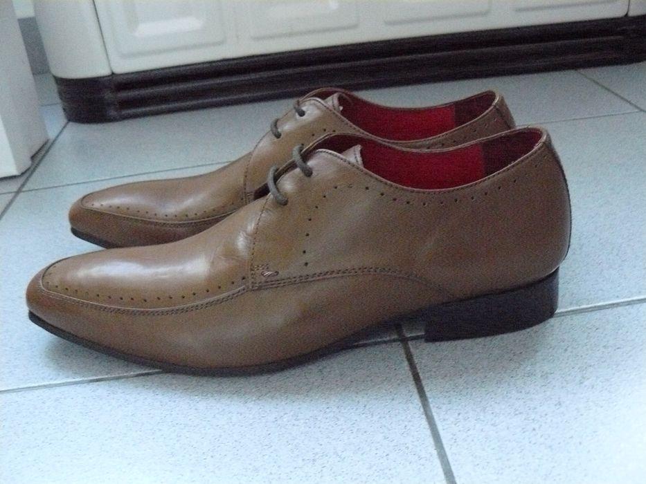 Pantofi Barbati,Noi TWISTED GENIUS Din Piele Naturala,Maro Deschis, 44
