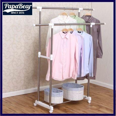 Двойная гардеробная вешалка для одежды!