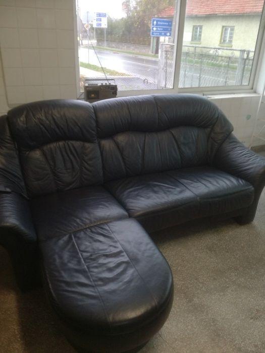 Кожен ъглов диван с релакс функция