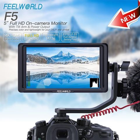Monitor FEELWORLD F5 5.5″ Full HD 4K pt gimbal,